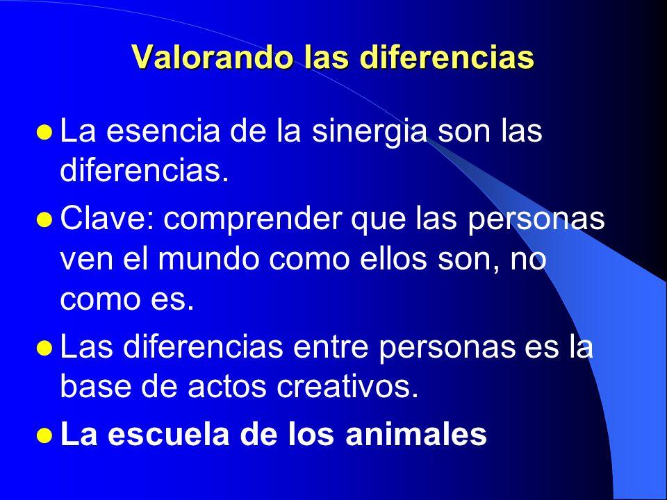 Valorando las diferencias
