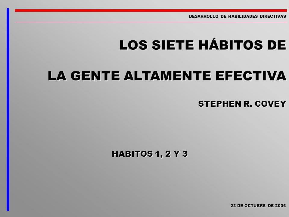 LOS SIETE HÁBITOS DE LA GENTE ALTAMENTE EFECTIVA STEPHEN R. COVEY