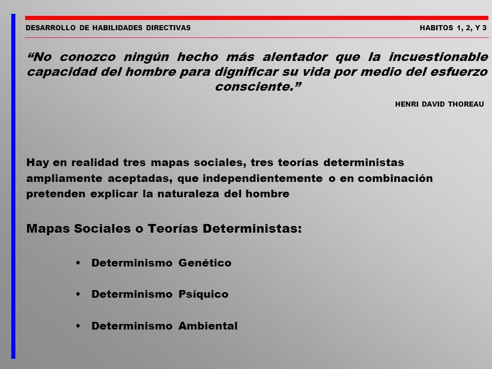 Mapas Sociales o Teorías Deterministas: