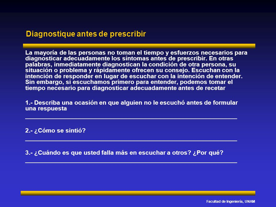 Diagnostique antes de prescribir