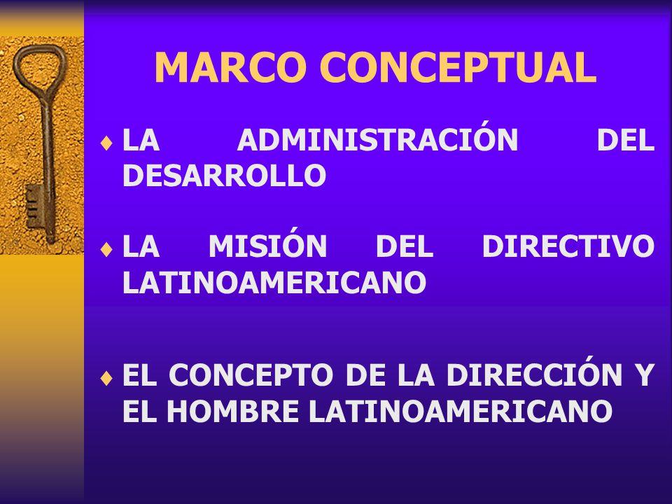 MARCO CONCEPTUAL LA ADMINISTRACIÓN DEL DESARROLLO