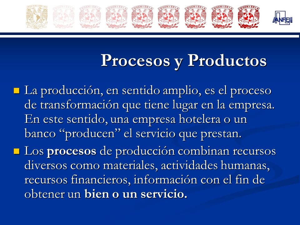 Procesos y Productos