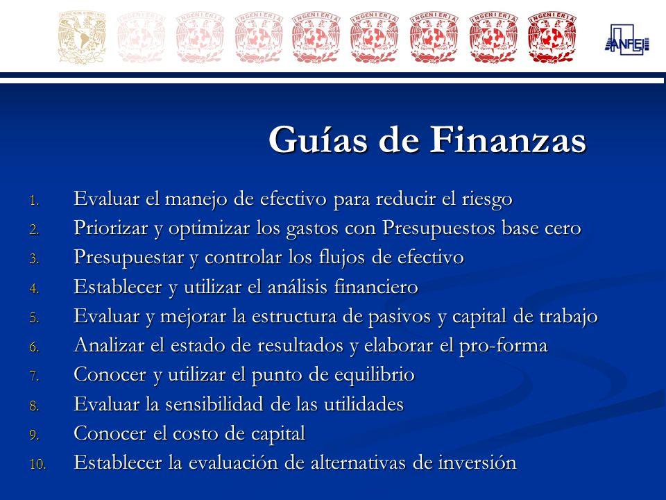 Guías de Finanzas Evaluar el manejo de efectivo para reducir el riesgo