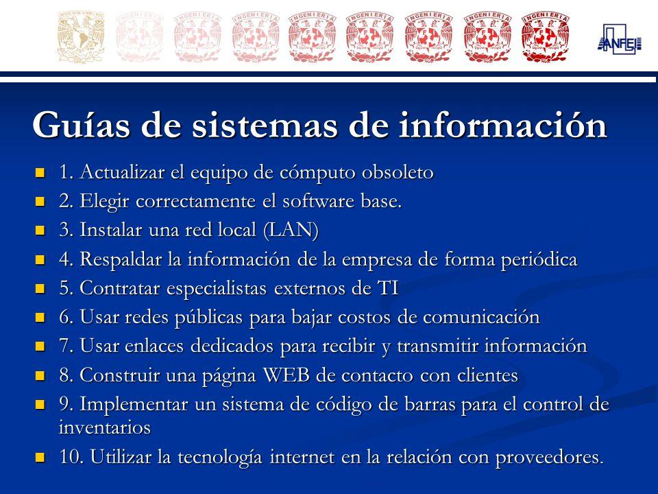 Guías de sistemas de información