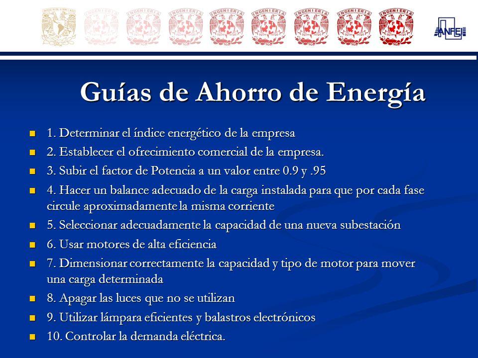 Guías de Ahorro de Energía
