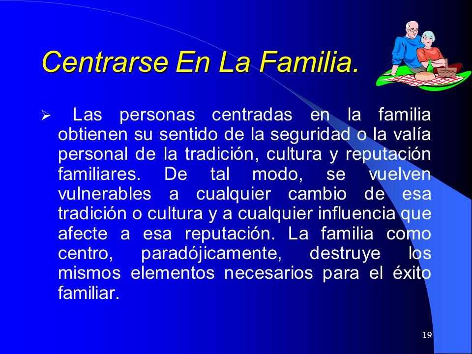 Centrarse En La Familia.