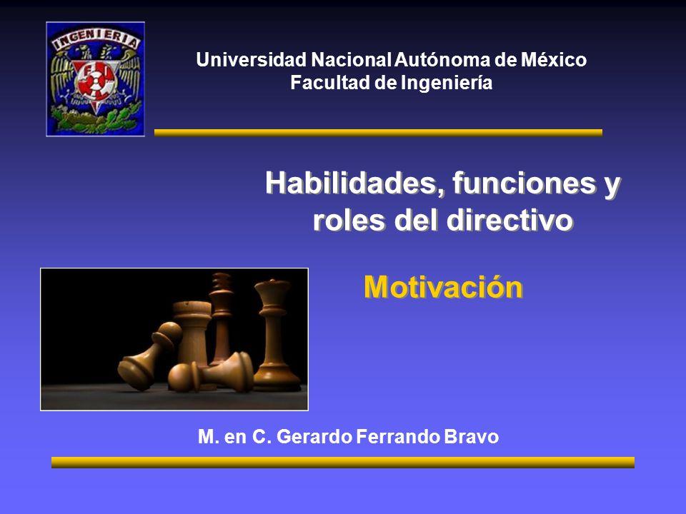 Habilidades, funciones y roles del directivo Motivación