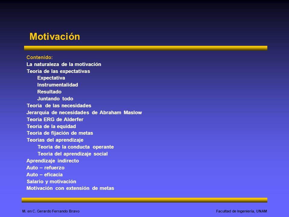 Motivación Contenido: La naturaleza de la motivación