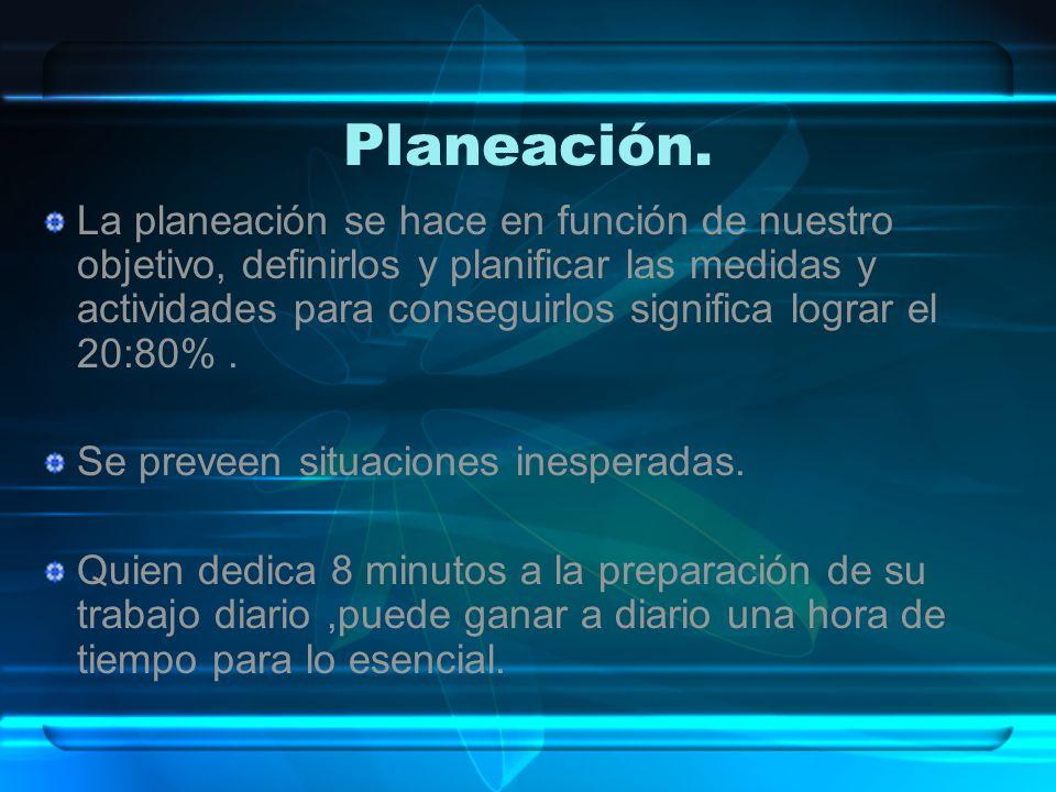 Planeación.