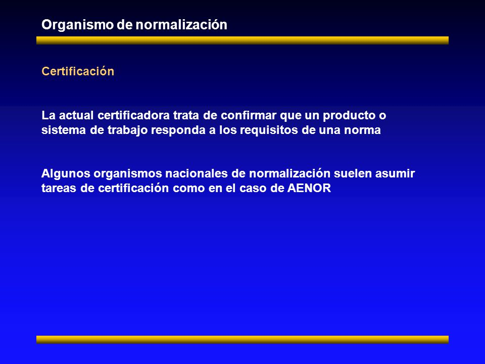 Organismo de normalización