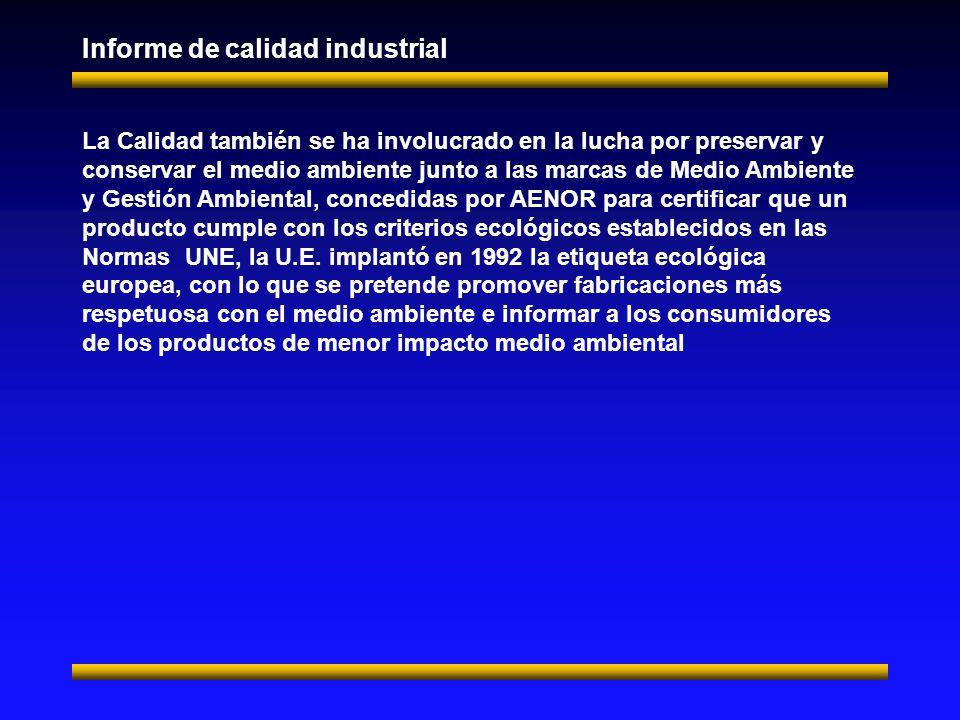 Informe de calidad industrial