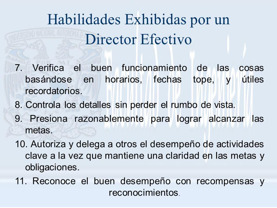 Habilidades Exhibidas por un Director Efectivo