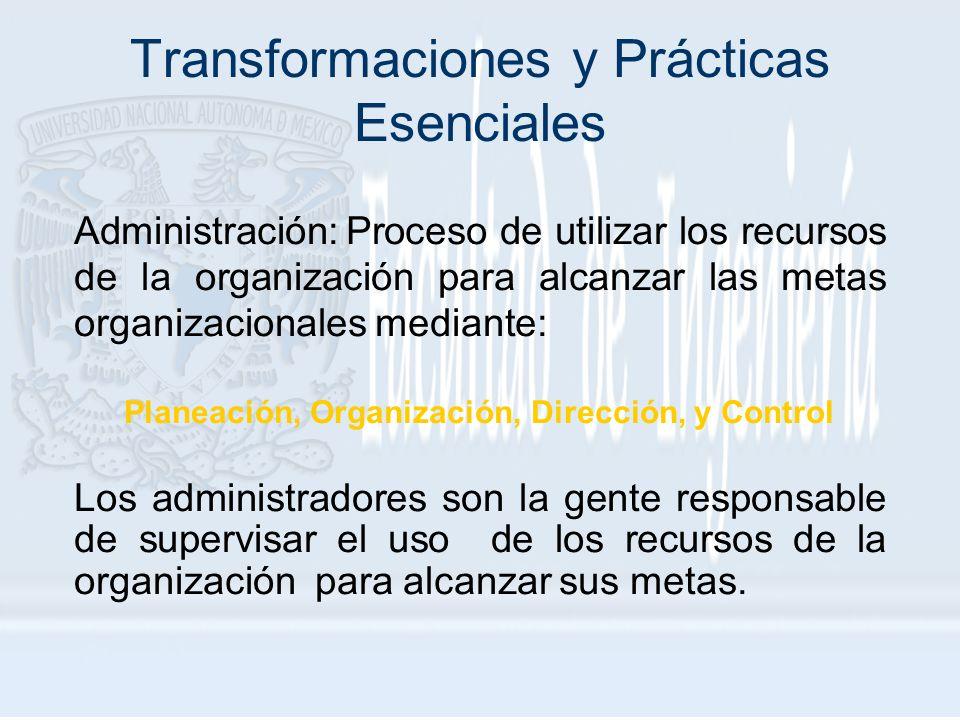Transformaciones y Prácticas Esenciales