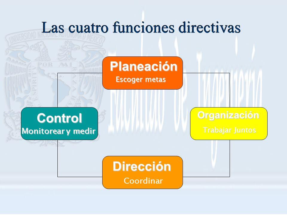 Las cuatro funciones directivas