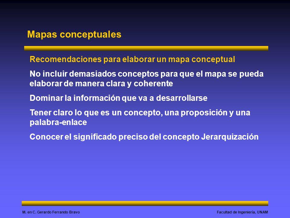 Mapas conceptuales Recomendaciones para elaborar un mapa conceptual