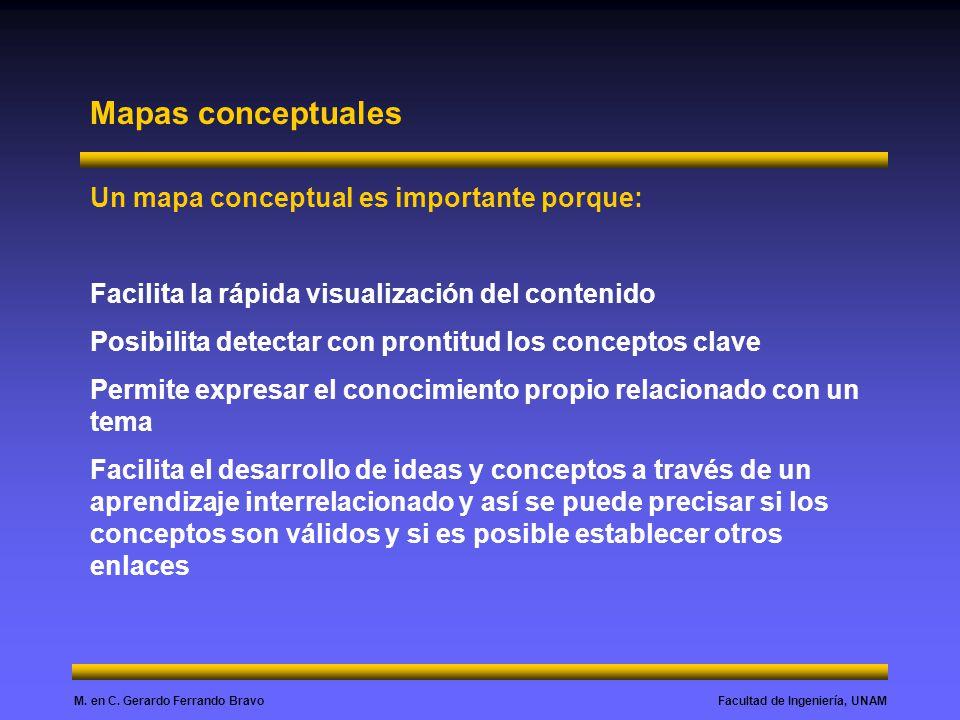 Mapas conceptuales Un mapa conceptual es importante porque: