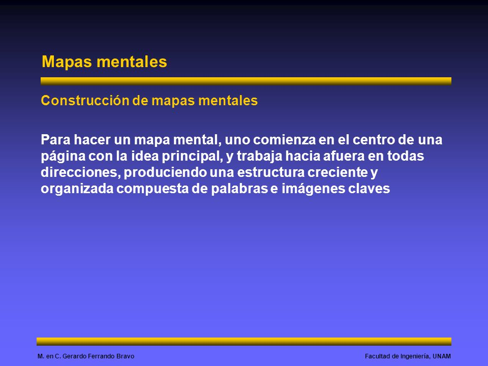 Mapas mentales Construcción de mapas mentales