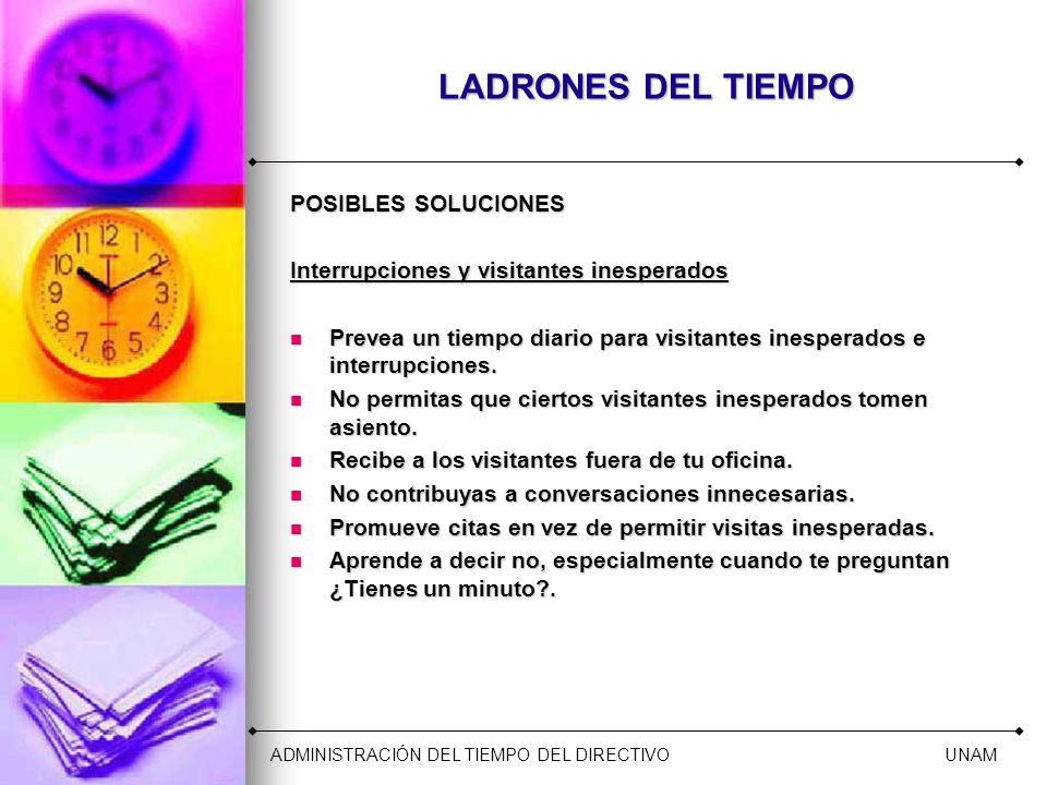 LADRONES DEL TIEMPO POSIBLES SOLUCIONES
