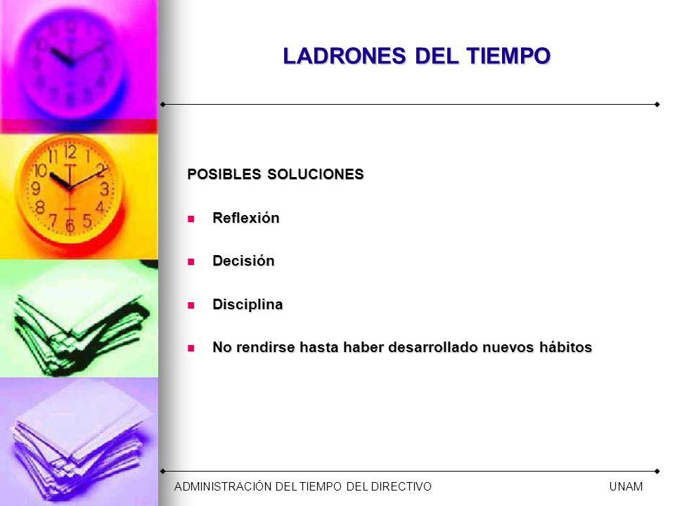 LADRONES DEL TIEMPO POSIBLES SOLUCIONES Reflexión Decisión Disciplina