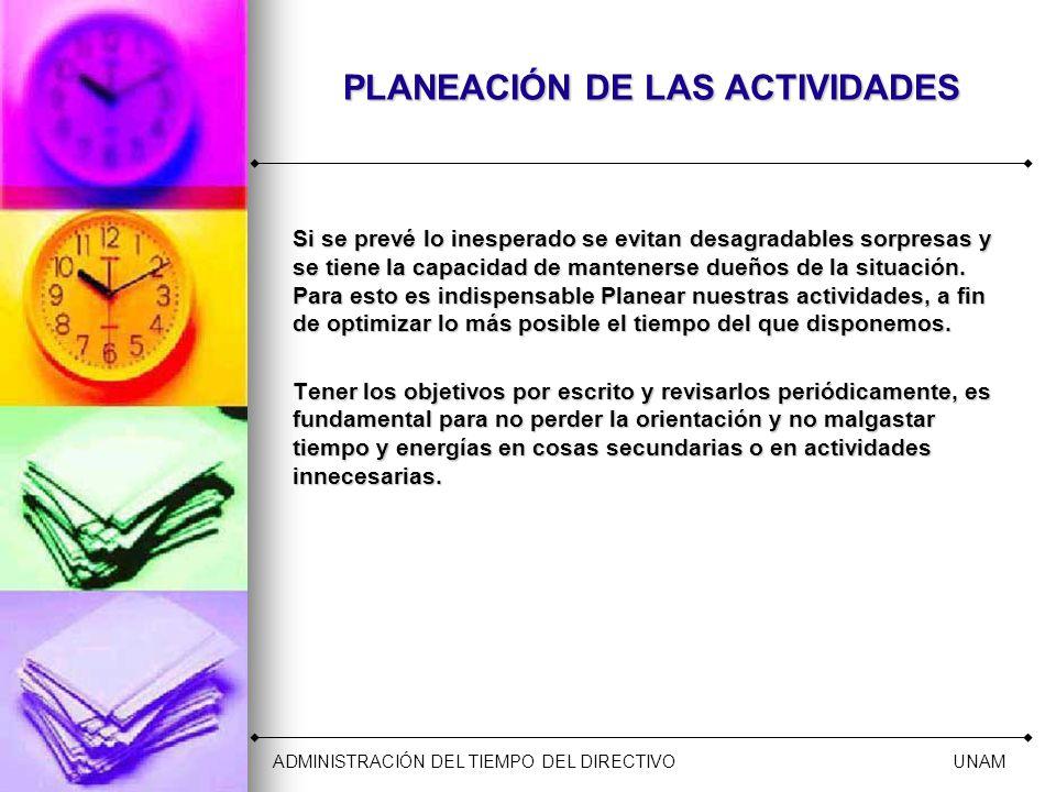 PLANEACIÓN DE LAS ACTIVIDADES