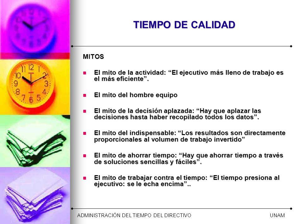 TIEMPO DE CALIDAD MITOS