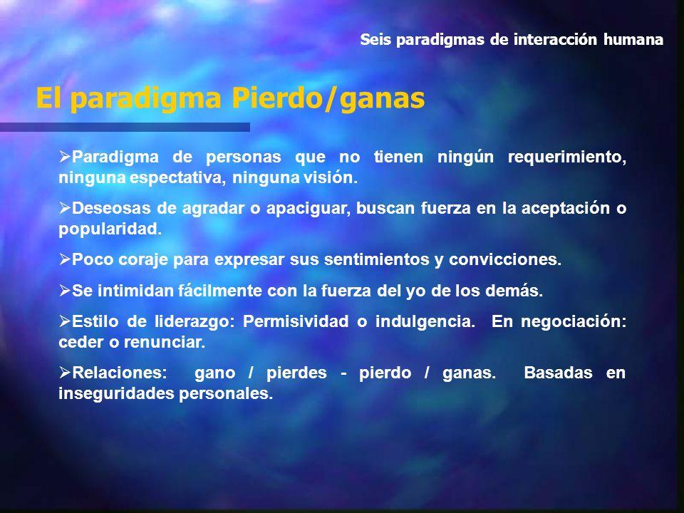 El paradigma Pierdo/ganas