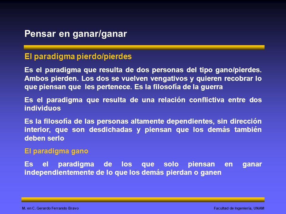 Pensar en ganar/ganar El paradigma pierdo/pierdes