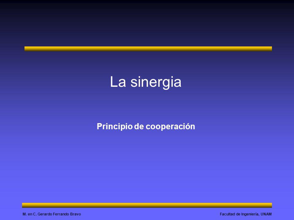 La sinergia Principio de cooperación