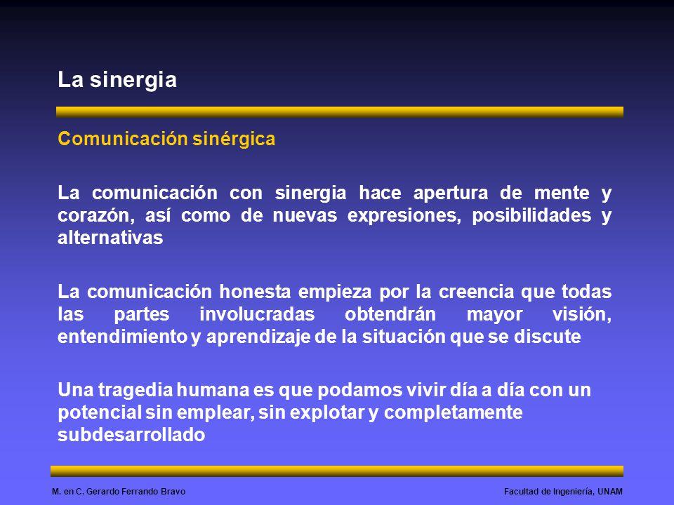 La sinergia Comunicación sinérgica