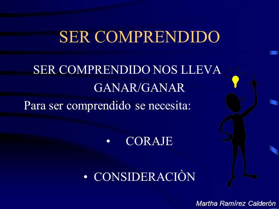 SER COMPRENDIDO SER COMPRENDIDO NOS LLEVA GANAR/GANAR