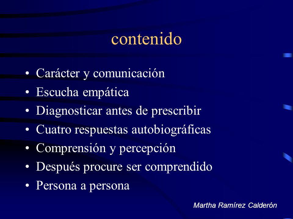 contenido Carácter y comunicación Escucha empática