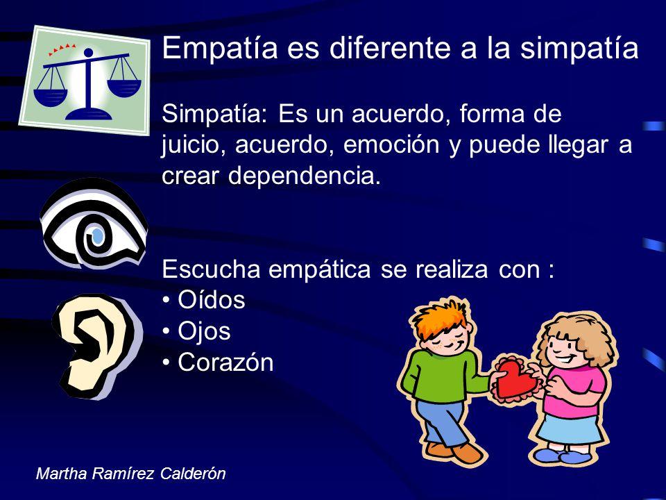 Empatía es diferente a la simpatía