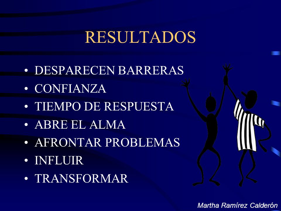 RESULTADOS DESPARECEN BARRERAS CONFIANZA TIEMPO DE RESPUESTA