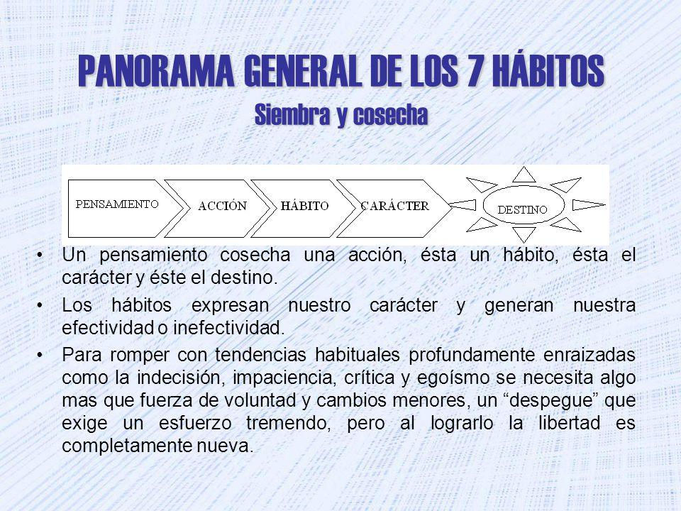 PANORAMA GENERAL DE LOS 7 HÁBITOS Siembra y cosecha