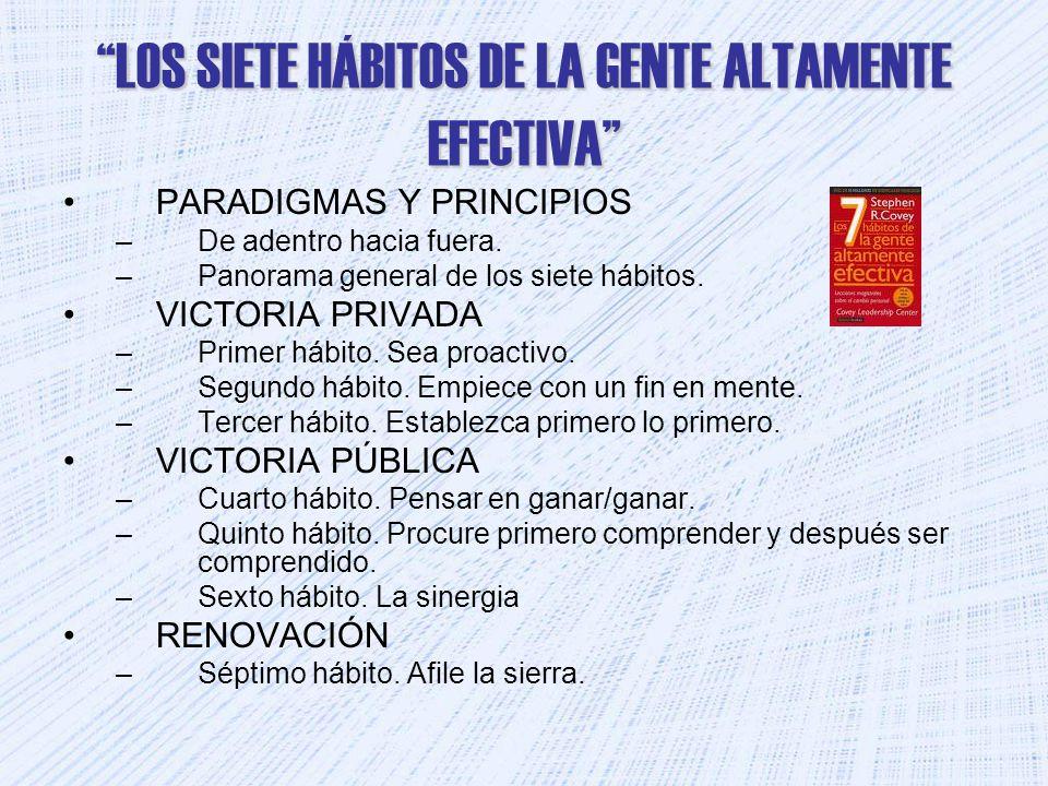 LOS SIETE HÁBITOS DE LA GENTE ALTAMENTE EFECTIVA