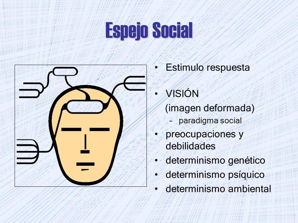 Espejo Social Estimulo respuesta VISIÓN (imagen deformada)