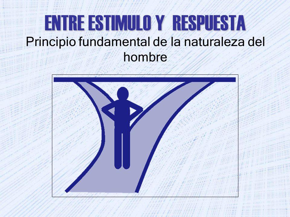 ENTRE ESTIMULO Y RESPUESTA Principio fundamental de la naturaleza del hombre