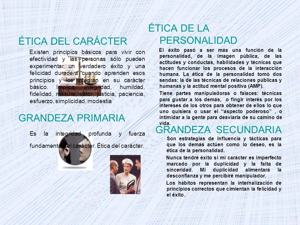 ÉTICA DE LA PERSONALIDAD ÉTICA DEL CARÁCTER