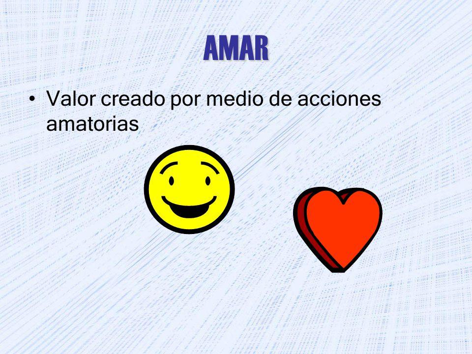 AMAR Valor creado por medio de acciones amatorias