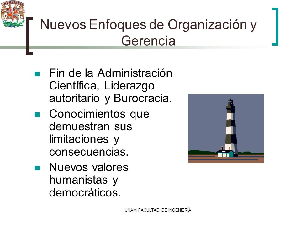 Nuevos Enfoques de Organización y Gerencia