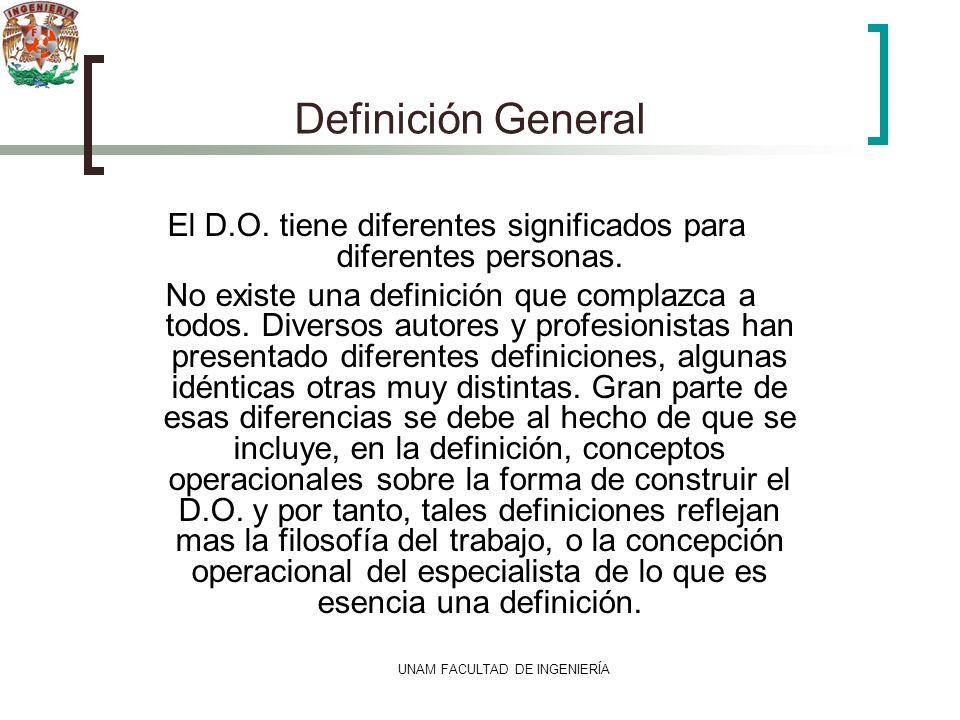 Definición General El D.O. tiene diferentes significados para diferentes personas.