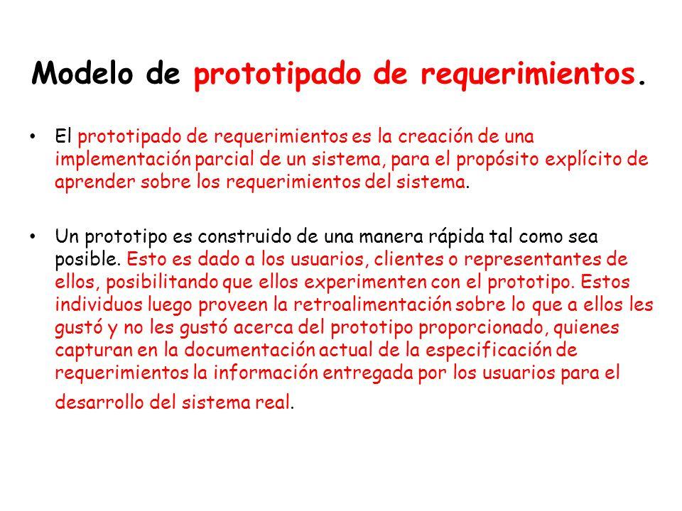 Modelo de prototipado de requerimientos.