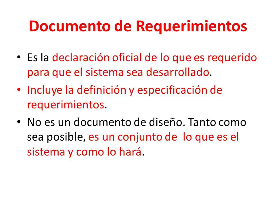 Documento de Requerimientos