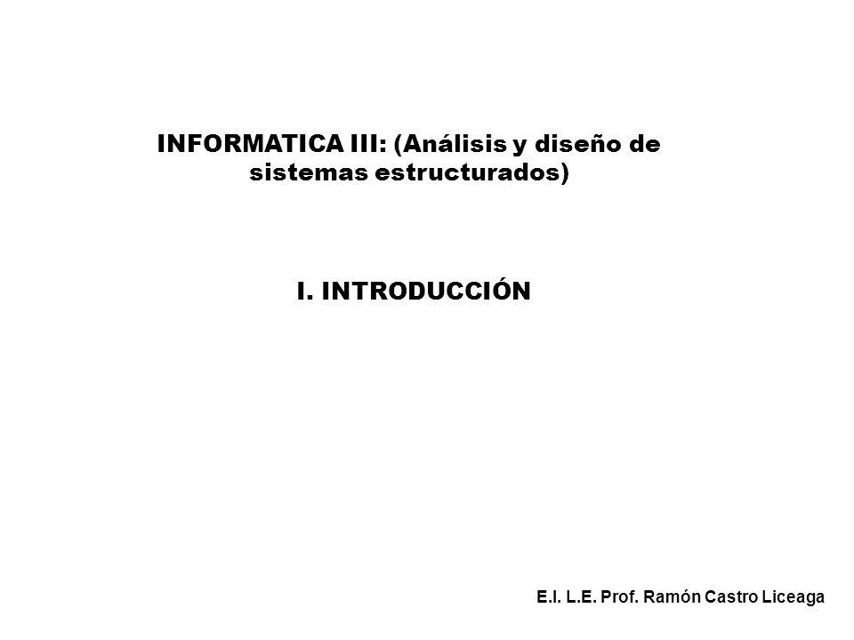 INFORMATICA III: (Análisis y diseño de sistemas estructurados)