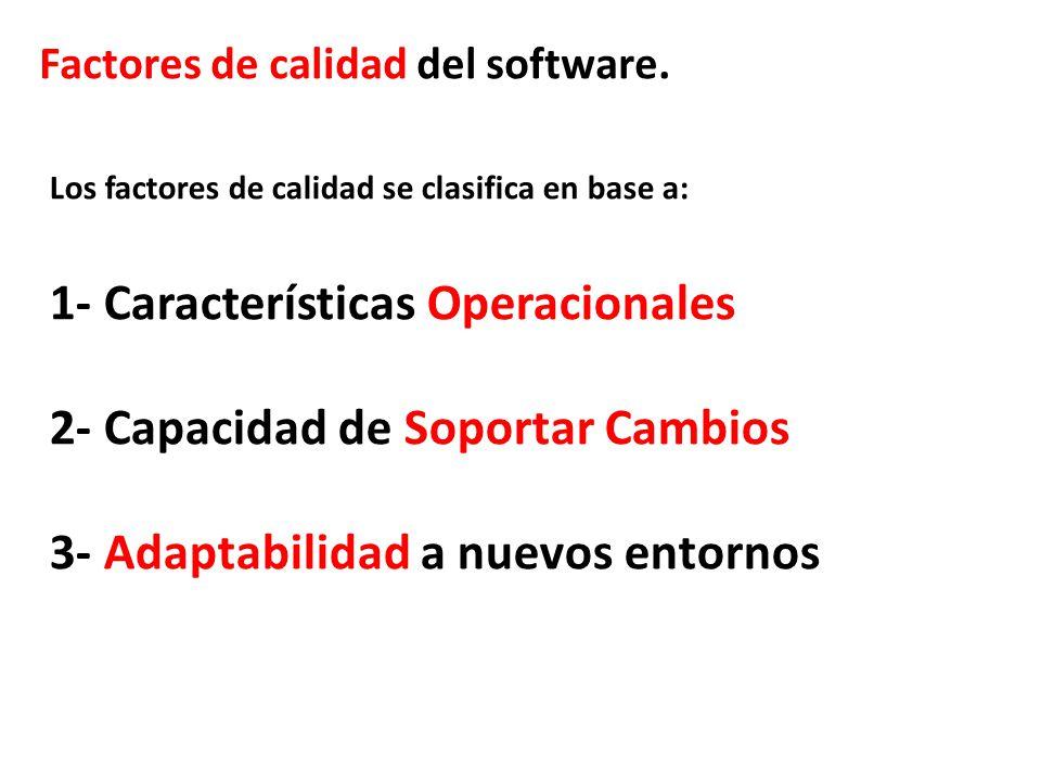 1- Características Operacionales 2- Capacidad de Soportar Cambios