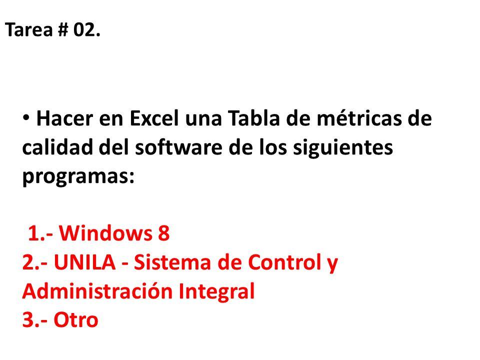 2.- UNILA - Sistema de Control y Administración Integral 3.- Otro