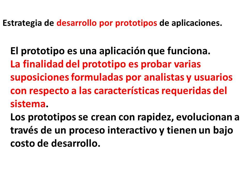 El prototipo es una aplicación que funciona.