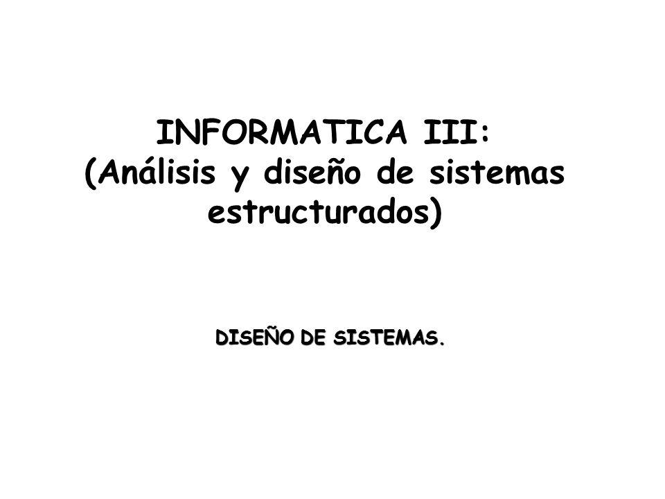 Informatica iii an lisis y dise o de sistemas for Diseno arquitectonico informatica