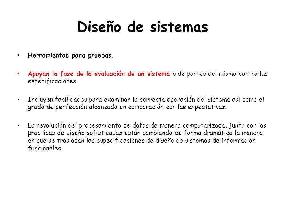 Diseño de sistemas Herramientas para pruebas.