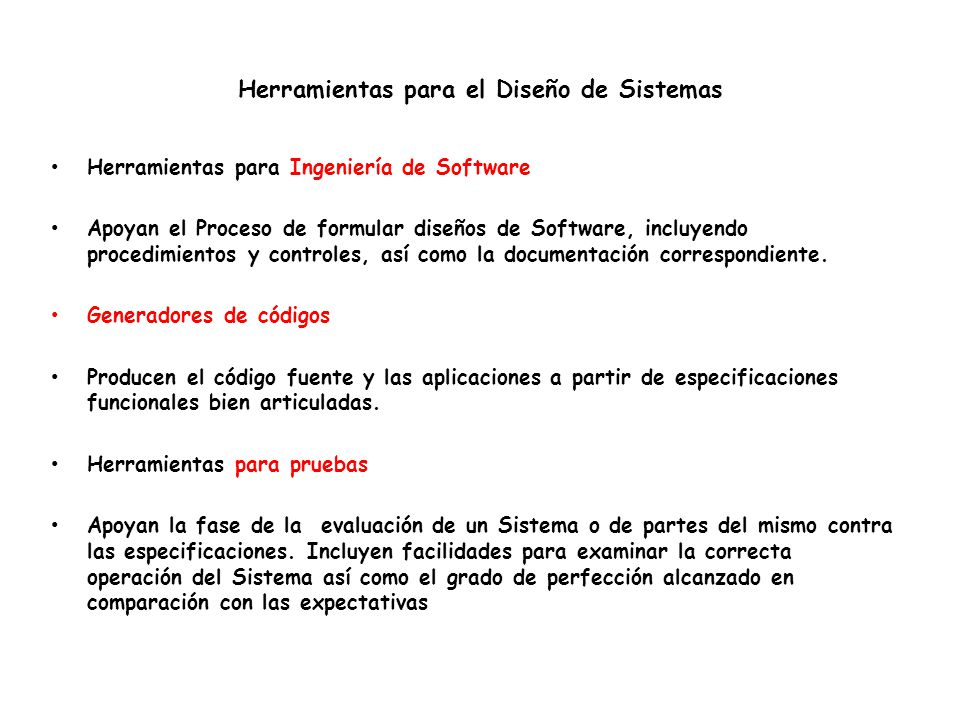 Herramientas para el Diseño de Sistemas